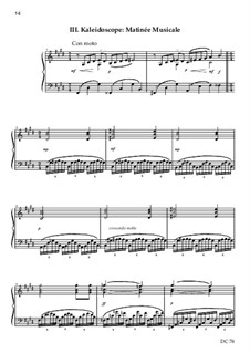 Three Impressionist Sketches for piano solo, B11a: Three Impressionist Sketches for piano solo by Colin Bayliss