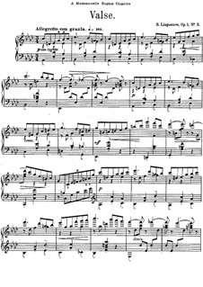 Three Pieces, Op.1: No.3 Waltz in A Flat Major by Sergei Lyapunov