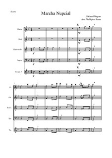 Bridal Chorus: For wind quintet by Richard Wagner