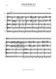 Concerto for Viola and Orchestra in D Major, Op.1: Score and parts by Carl Stamitz