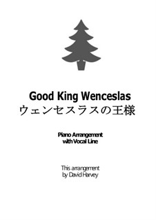 Good King Wenceslas: For voice and piano by folklore