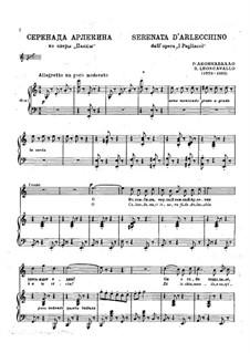 Pagliacci: Serenata d'Arlecchino by Ruggero Leoncavallo