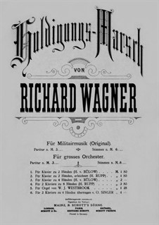 Homage March, WWV 97: For piano four hands – parts by Richard Wagner