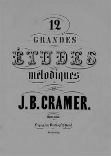 Douze grandes etudes mélodiques, Op.107: Book I by Johann Baptist Cramer