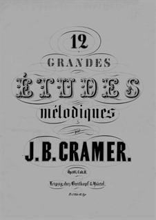 Douze grandes etudes mélodiques, Op.107: Book II by Johann Baptist Cramer