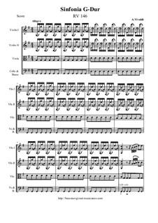 Sinfonia in G Major, RV 146: Full score, parts by Antonio Vivaldi