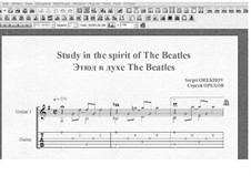 Study in the spirit of The Beatles: Study in the spirit of The Beatles by Sergei Orekhov