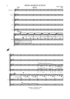 Missa Mariae Auxilii, Op.2: Missa Mariae Auxilii by Bruno Vlahek