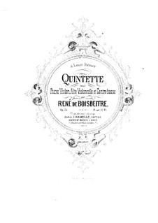 Piano Quintet in D Major, Op.25: Full score by René de Boisdeffre