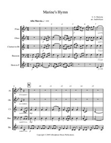 Marine's Hymn: For wind quintet by Jacques Offenbach