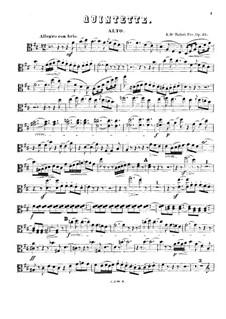 Piano Quintet in D Major, Op.25: Viola part by René de Boisdeffre