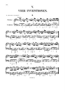Four Inventions for Violin and Basso Continuo, Op.10: Complete set by Francesco Antonio Bonporti