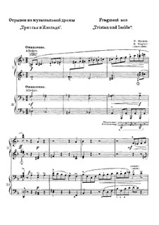 Fragments: For piano four hands by Richard Wagner