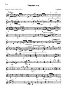 Stoptime Rag: For oboe, violin, viola and cello - oboe part by Scott Joplin
