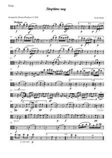 Stoptime Rag: For oboe, violin, viola and cello - viola part by Scott Joplin