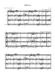 Stoptime Rag: For oboe, violin, viola and cello - score by Scott Joplin