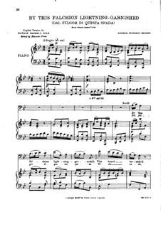 Julius Caesar in Egypt, HWV 17: Dal fulgor di questa spada, for voice and piano by Georg Friedrich Händel