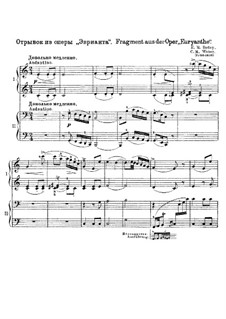 Fragments: For piano four hands by Carl Maria von Weber