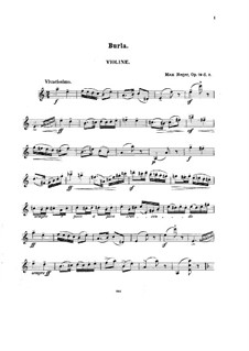 Suite for Violin and Piano, Op.79d: No.2 Burla – solo part by Max Reger
