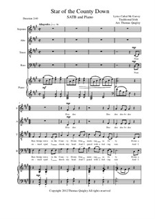 The Star of County Down: SATB and piano by folklore