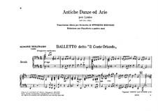 Antiche danze et arie per liuto. Suite No.1: Version for piano four hands by Ottorino Respighi