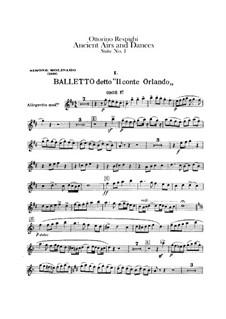 Antiche danze et arie per liuto. Suite No.1: Oboes and cor anglais parts by Ottorino Respighi