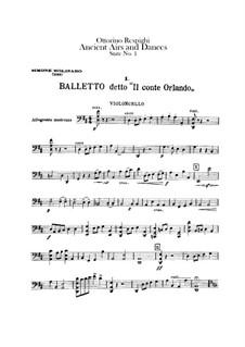 Antiche danze et arie per liuto. Suite No.1: Cellos part by Ottorino Respighi