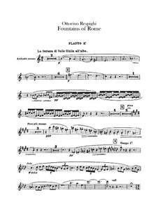 Fontane di Roma (Fountains of Rome): Flutes parts by Ottorino Respighi