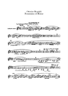 Fontane di Roma (Fountains of Rome): Clarinets parts by Ottorino Respighi