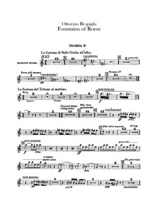 Fontane di Roma (Fountains of Rome): Trumpets parts by Ottorino Respighi