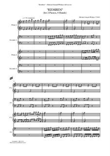 Kemben (The Javanese Sex Charm) for 2 pianos, 8 hands: Kemben (The Javanese Sex Charm) for 2 pianos, 8 hands by Michael Gunadi