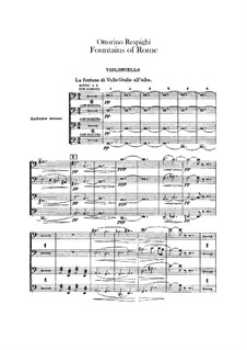 Fontane di Roma (Fountains of Rome): Cellos parts by Ottorino Respighi