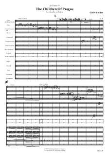 The Children of Prague - for orchestra, B6: Full score by Colin Bayliss