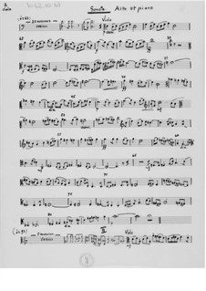 Divertimento for Clarinet or Oboe and Piano: Score by Ernst Levy