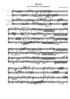 Quartet for Two Arpeggiones and Two Basset Horns, Op.12: Movement I by Dov Rosenschein