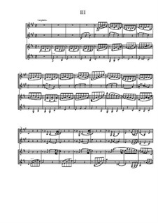 Quartet for Two Arpeggiones and Two Basset Horns, Op.12: Movement III by Dov Rosenschein