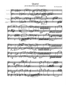 Quartet for Two Arpeggiones and Two Basset Horns, Op.12: Full score by Dov Rosenschein