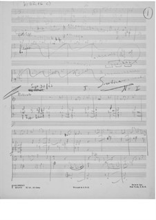 Sonatina No.1 for Violin and Piano: Composer's Sketches by Ernst Levy