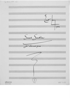 Sonatina No.2 for Violin and Piano: Full score by Ernst Levy