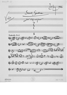 Sonatina No.2 for Violin and Piano: Violin Part by Ernst Levy