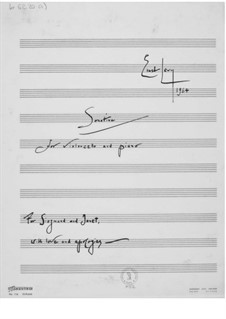 Sonatina for Cello and Piano: Full score by Ernst Levy