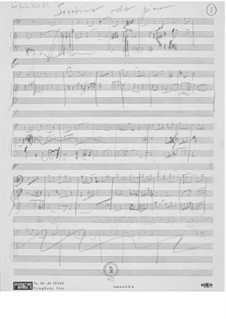 Sonatina for Cello and Piano: Composer's Sketches by Ernst Levy