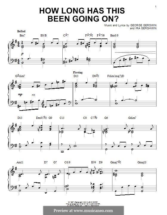 How Long Has This Been Going On?: For piano by George Gershwin