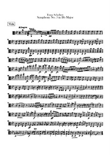 Symphony No.5 in B Flat Major, D.485: Viola part by Franz Schubert