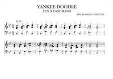 Yankee Doodle: For synthesizer (Bb Major) by folklore