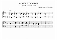 Yankee Doodle: For synthesizer (A Major) by folklore