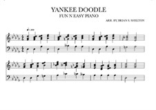 Yankee Doodle: For synthesizer (Db Major) by folklore