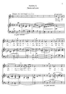 Sento nel core: For mezzo-soprano and piano by Alessandro Scarlatti