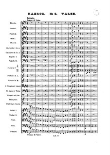 No.2 Waltz: Full score by Pyotr Tchaikovsky