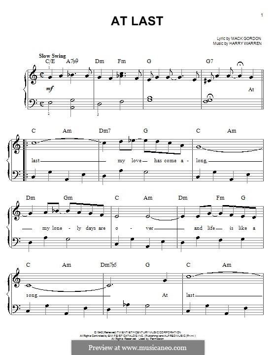 at last etta james piano sheet pdf